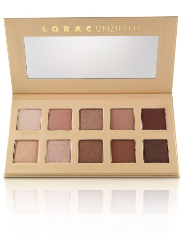 Lorac's universally flattering nude eyeshadow pallette...UNZIPPED