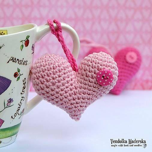 VendulkaM / Háčkované srdce - návod na háčkovanie