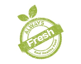 http://paleo.digimkts.com   This is a MUST HAVE!    Fresh Food Stamp Logo design - This logo is great for vegetarian site, diet…