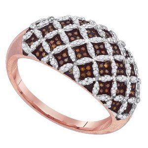0.50ctw Brilliant Round Red  White Diamond Ring Wedding Band by TheJewelryMaster - See more at: http://jewelryexcitement.com/jewelry/050ctw-brilliant-round-red-white-diamond-ring-wedding-band com/#sthash.VzTQnP8M.dpuf