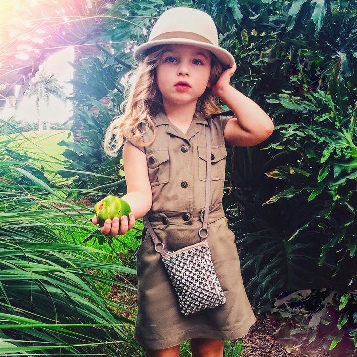 little fashionista JULIET  J  JONES, age 3 @julietjjones on Instagram #safari #style #kidswear #joyfolie #stylish #kids