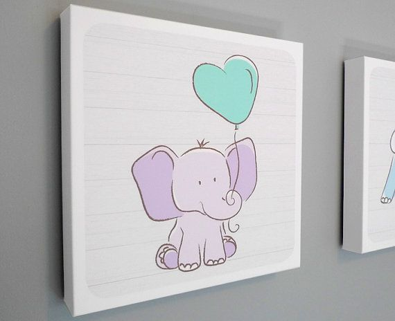 Adorable Nursery Art Canvas for your little ones nursery or bedroom! Also great as a baby shower gift!    This Listing is for one Nursery Art