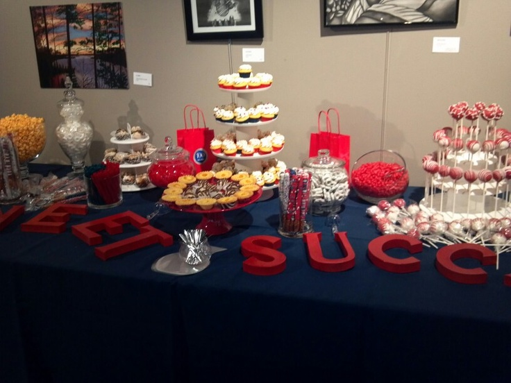 sweet success candy table for graduation party
