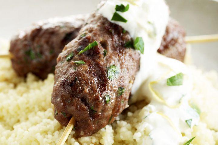 Moroccan beef skewers