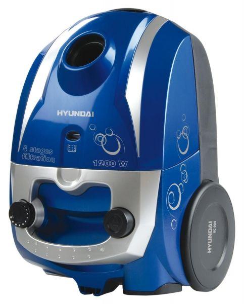 Hyundai VC004B 1200W niebieski - Odkurzacz workowy - Satysfakcja.pl