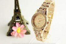 Ginebra de La Manera Relojes de Cuarzo Para Mujer Damas de Acero Inoxidable Reloj de Pulsera de Plata de ley Para Las Mujeres Pequeños Relojes(China (Mainland))