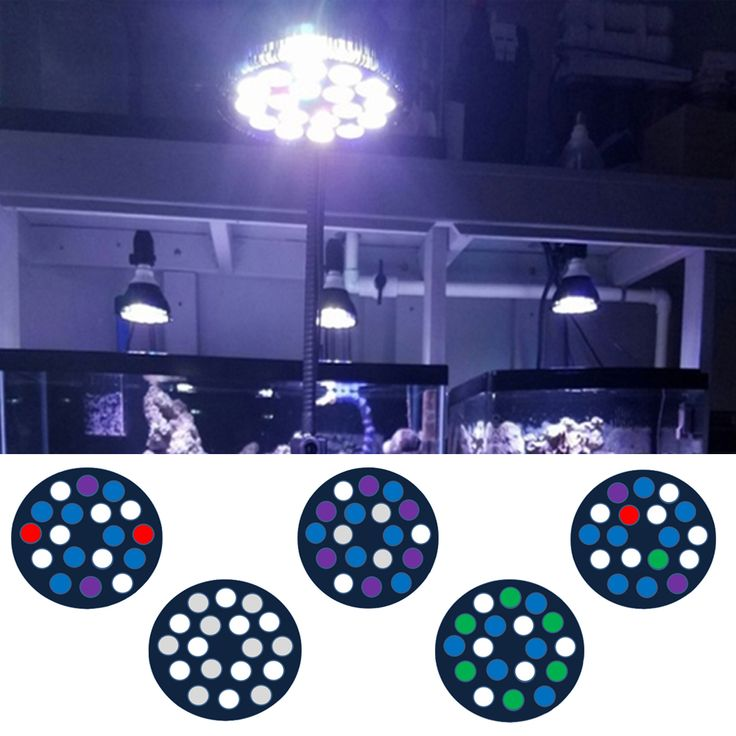 54W Full Spectrum LED Aquarium Lights E27 Aquarium LED Lighting PAR38 Coral Reef Used LED Aquarium Light for Refugium Coral Reef