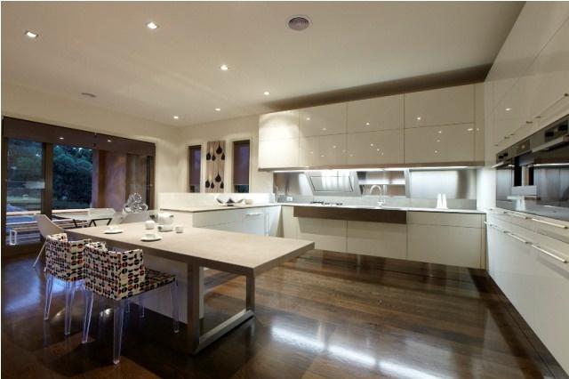 Amazing white modern kitchen