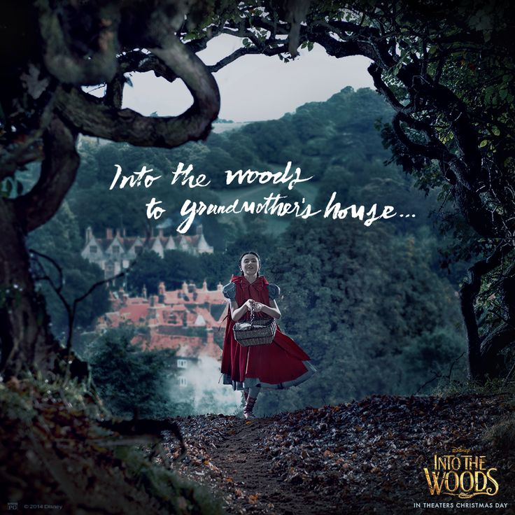 Off to Grandmother's house this Thanksgiving? Be careful not to lose the way. #IntoTheWoods