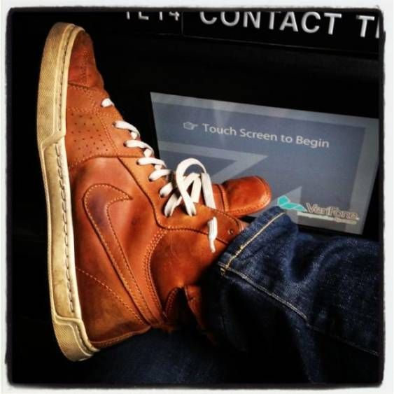 Fresh brown leather Nike's #fresh #cool