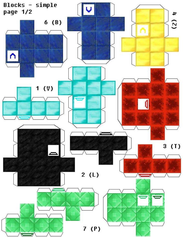 Papercraft Soma Cube Puzzle Minecraft Edition (Ore Block