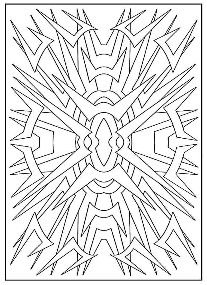 Creative Haven Abstract Designs Coloring Book Dover Publications