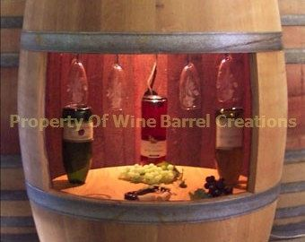 Wine Cabinet Hold 30 Wine Bottles Wall by winebarrelcreation