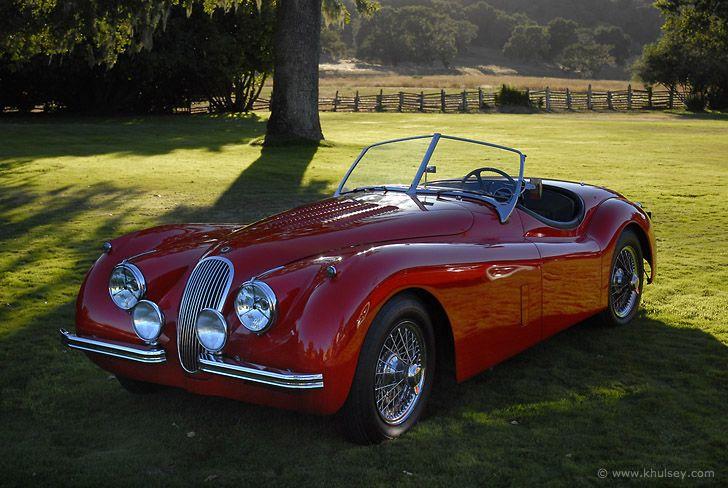1954 Jaguar Roadster Classic Vintage Convertible Red