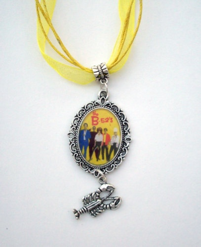 B 52s ROCK LOBSTER Cameo Necklace by SuperVixenBadGirl on Etsy, $16.00 linens!#joescrabshack
