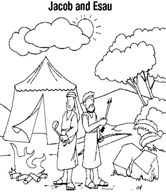jacob coloring pages see more jacob esau