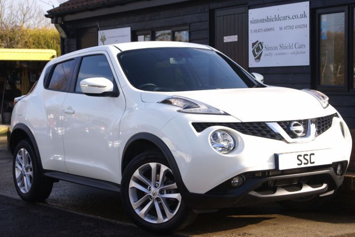 Nissan Juke 1.2 DiG-T Acenta Premium 5dr Hatchback Petrol Arctic White for sale at http://www.simonshieldcars.co.uk/used/nissan/juke/12-dig-t-acenta-premium-5dr/ipswich/suffolk/17709286