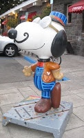 Snoopy in Santa Rosa, California--where Charles M. Schulz lived for many years.