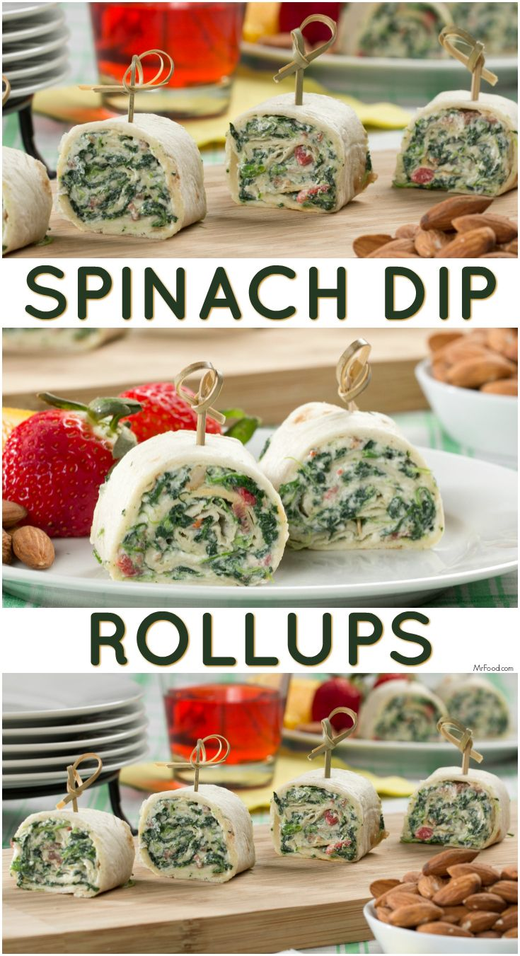 There's more than one way to enjoy your favorite summertime dip! These Spinach Dip Rollups are the perfect, no-cook, summer appetizer.