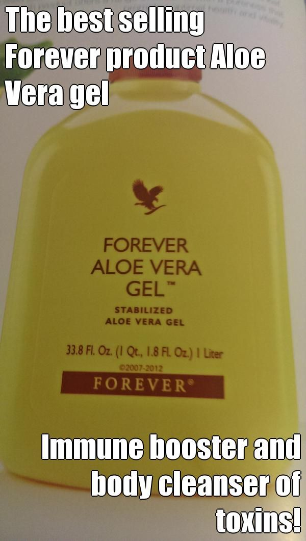 The best selling Forever product Aloe Vera gel lmmune booster and body cleanser of toxins! Go to www.ourbodyforever.com for more information or ordering.