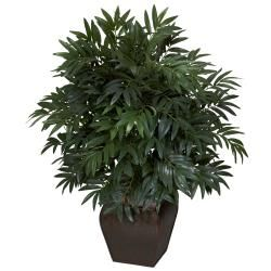 Double Bamboo Palm with Decorative Planter Silk Plant | Overstock.com Shopping - The Best Deals on Silk Plants