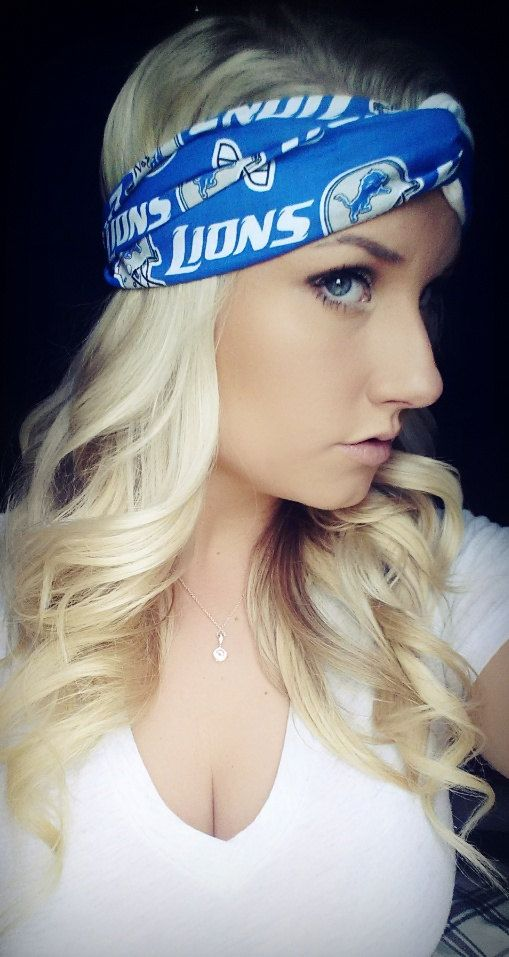 Detroit Lions Headbands by TheWoodenAntler on Etsy, $20.00