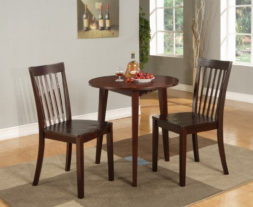 Kings Brand 30 Round Cherry Finish Wood Dining Room Kitchen Table By Furniture