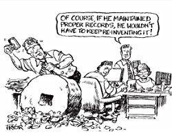 Cartoon - reinventing the wheel