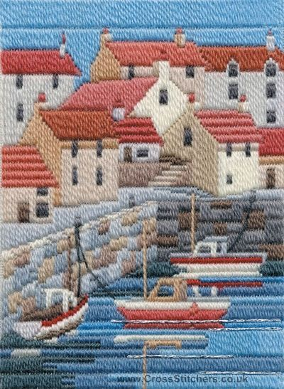 Coastal Summer Long Stitch Kit from Derwentwater Designs