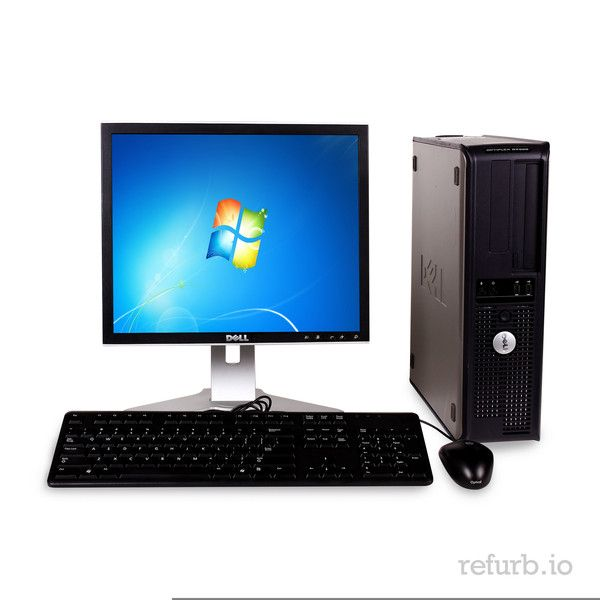 "*Manufacturer: DELL *Model #: OPTIPLEX GX745 *Form Factor: SFF *CPU: INTEL CORE 2 DUO 2.0Ghz *Memory: 2GB *Memory Type: DDR2 *HDD: 160GB *Hard Drive Type: SATA *Optical: DVD *Monitor: DELL 19"" REGULAR O/S: WINDOWS 7 HOME PREMIUM (W7HP), MICROSOFT AUTHORIZED REFURBISHER (MAR) *Keyboard & Mouse: YES"