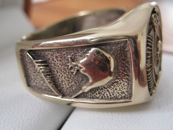 SIDE VIEW SIGNET RING KIWI AND FERN