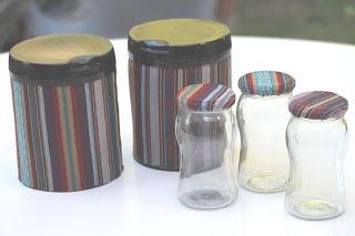 Latas de leche y frascos de mermelada reciclados con aguayo - Mamy a la obra