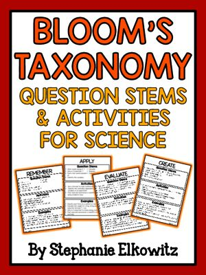 FREE Bloom's Taxonomy Question Stems and Activities for Science from Stephanie Elkowitz on TeachersNotebook.com - (9 pages) - Question stems and activity ideas to help apply Bloom's Taxonomy to teaching science!