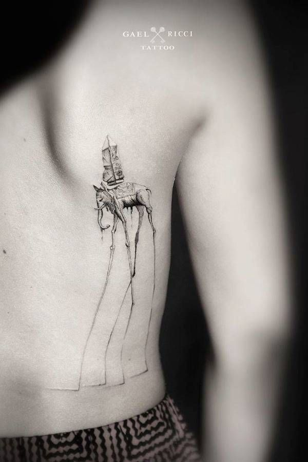 Charming Dotwork Tattoos Inspired By The Work Of Picasso, Dali, Famous Artists - DesignTAXI.com
