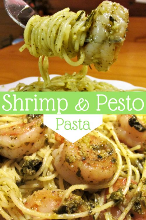 Shrimp and Pesto Pasta — The Closet Culinarian: Easy, quick, delicious. Perfect for a weeknight meal. cheap, budget, shrimp, pesto, pasta, angel hair, fast, quick, meals, seafood, weeknight, recipes, (Fast Easy Meal Cheap)