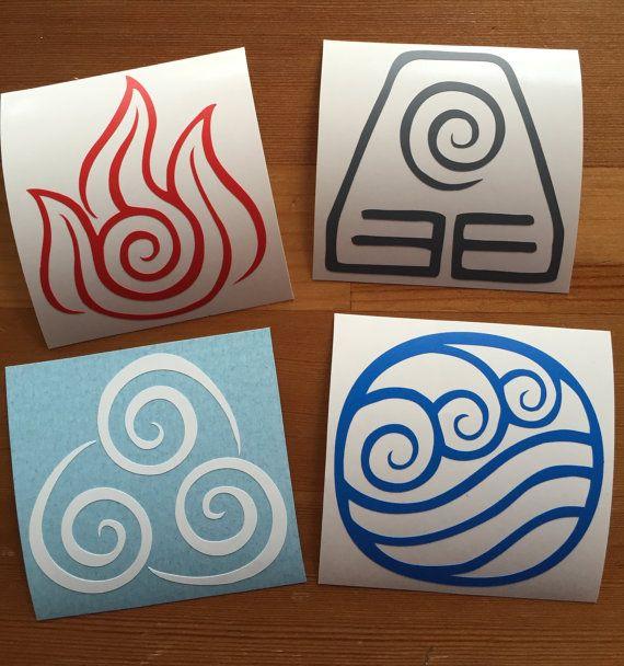 $4.51 | #Avatar #Airbender Stickers | Set Of 4