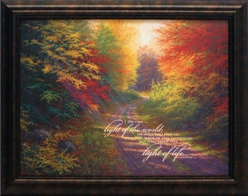 artistic reflections i am the light of the world wholesale framed inspirational autumn landscape art print - Wholesale Art And Frames