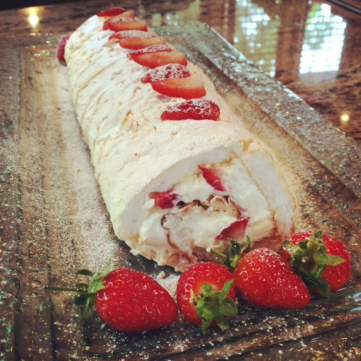 Homemade Mary Berry Strawberry Roulade