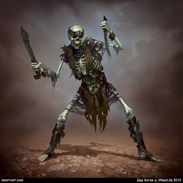 Skeletons for Godsand game | NOT OUR ART - Please click artwork for source | WRITING INSPIRATION for Dungeons and Dragons DND Pathfinder PFRPG Warhammer 40k Star Wars Shadowrun Call of Cthulhu and other d20 roleplaying fantasy science fiction scifi horror location equipment monster character game design | Create your own RPG Books w/ www.rpgbard.com