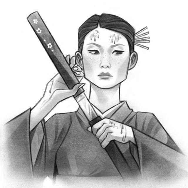 Inktober day 6 : O-Ren Ishii/Cottonmouth from Kill Bill