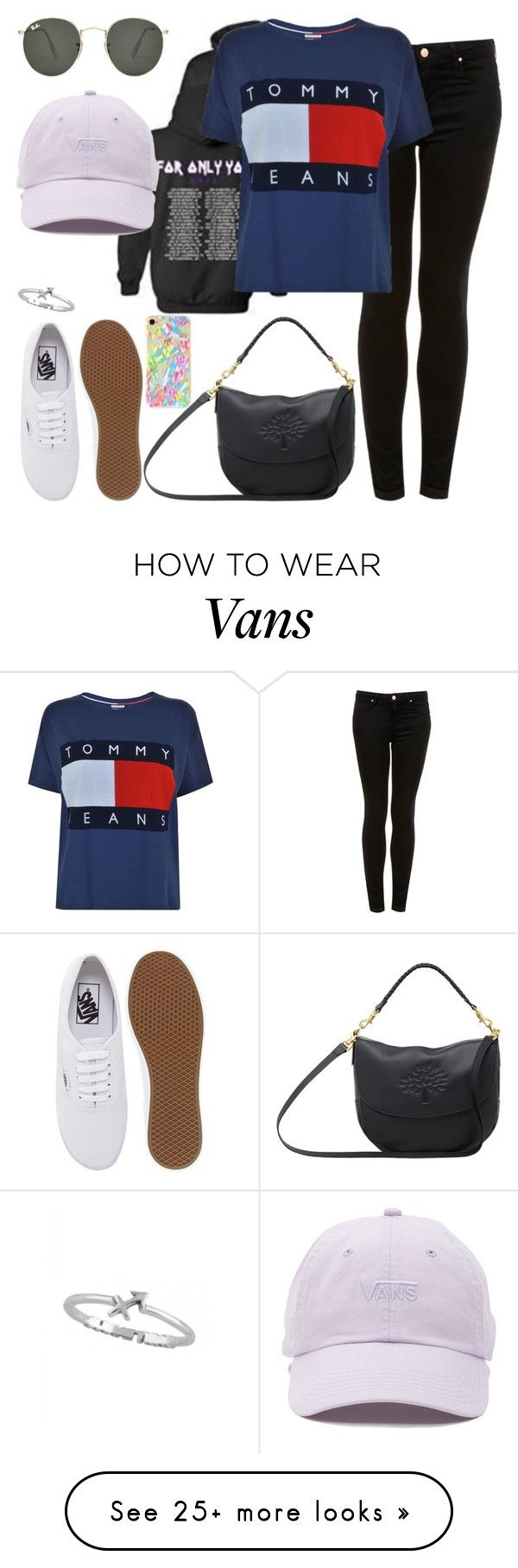 """""""Untitled #188"""" by findthefinerthings on Polyvore featuring Vans, Ray-Ban, Topshop, Tommy Hilfiger, Mulberry and Lilly Pulitzer"""