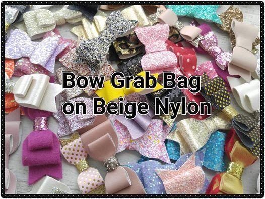 Bow Grab Bag  Beige Nylon hoofdbanden  één maat meeste