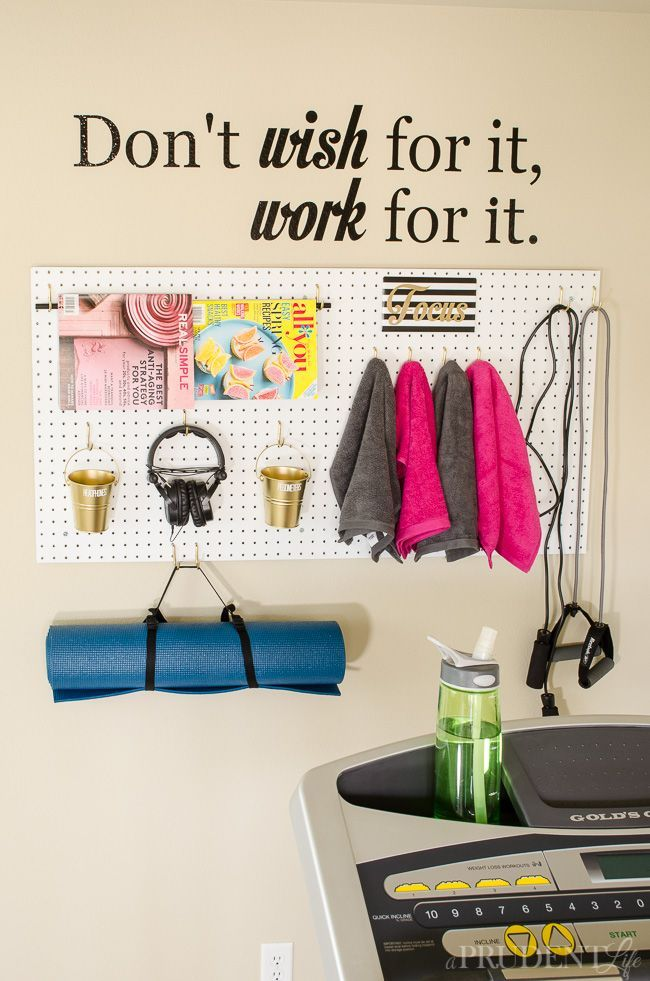 It just takes the corner of a room to create an inspiring mini-gym in your home! Click for details.