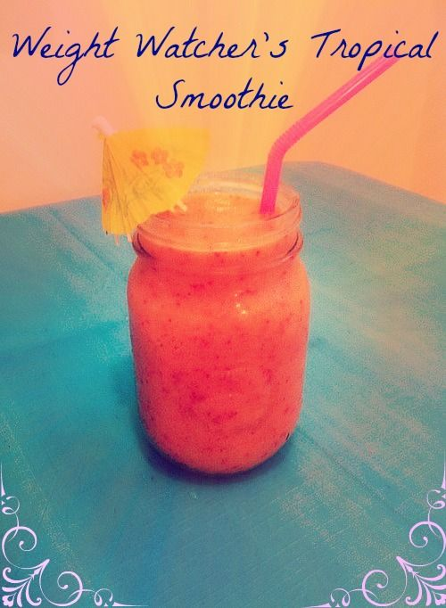 Weight Loss Smoothie, 1 Weight Watchers Points! in 2018 | Food | Weight  watchers points, Weight loss smoothies, Weight watcher smoothies