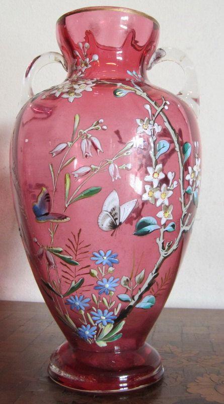 Gorgeous antique Victorian cranberry glass by ElflingAntiques