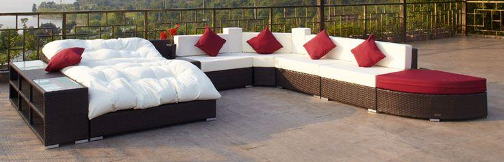 Nett gartenmöbel polyrattan lounge