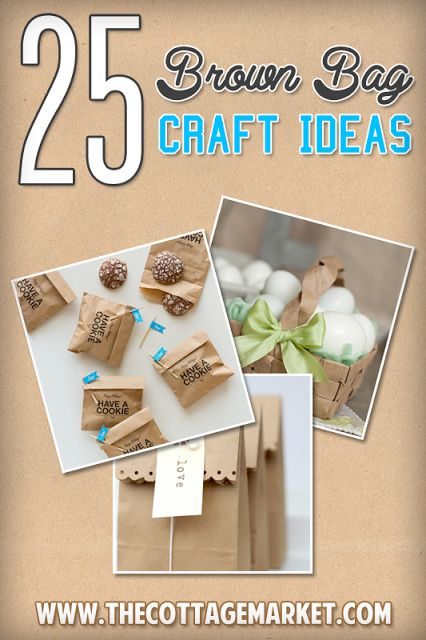 25 Brown Bag Crafts Create and Recycle - The Cottage Market #BrownBags, #BrownBagCrafts, #BrownBagCraftIdeas