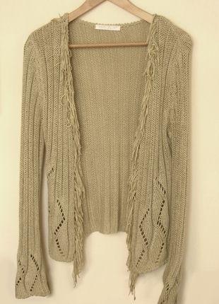 Kup mój przedmiot na #vintedpl http://www.vinted.pl/damska-odziez/swetry-z-dzianiny/9875356-jesienny-bezowy-sweterek-z-fredzlami