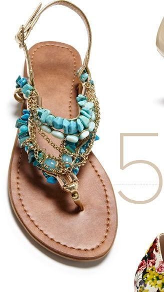 summer :): Turquoi Sandals, Summer Sandals, Design Shoes, Style, Summer Shoes, Summer Outfits, Flats Sandals, Summer Clothing, Beads Sandals