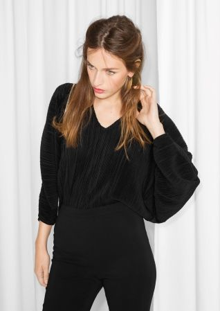 & Other Stories | Pleated Body Top